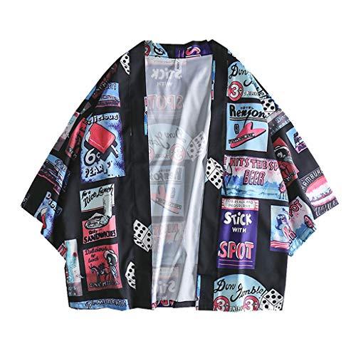 friendGG❤️Tops Hemden Outdoor Fun-T-Shirts &Freizeit Herrenbekleidung Sportswear-Shirts&Hemden für Herren Mens-Sommer-Art- und Weisehemden Kurze Hülsen-Strand-Oberseiten lösen beiläufige Bluse