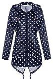 Damen Jacke Übergangsjacke Wasserdichter Regenmantel Regenjacke Windjacke Große Größen mit Reißverschluss
