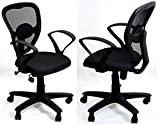 TimberTaste 2 Pieces (Pair) Dolly Black office computer task conference visitor chair (Set of 2)