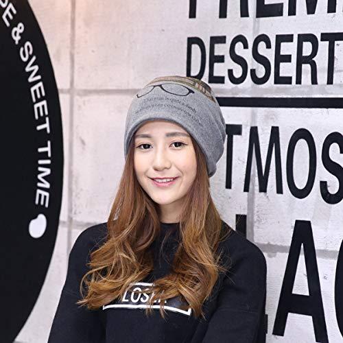 zhuzhuwen Koreanische Version von Outdoor-Druck Brille Stapel Hüte Männer und Frauen Baumwolle Monat Mode Sätze von Köpfen 3 One Size