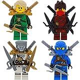 LEGO Ninjago 4er Figurenset Ultimate 12 - Lloyd Zane Kai Jay mit 14 GALAXYARMS Waffen Schwerter