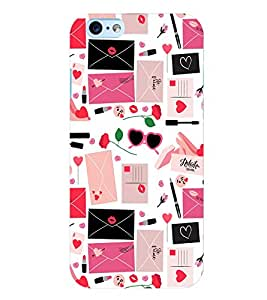 Citydreamz Funky/Girly/Red Lipstick/Makeup/Roses/Hearts/Love Letter Hard Polycarbonate Designer Back Case Cover For Apple Iphone 6 Plus/6S Plus