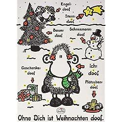 """Sheepworld Adventskalender """"Ohne Dich ist Weihnachten doof"""", mit Schokolade"""