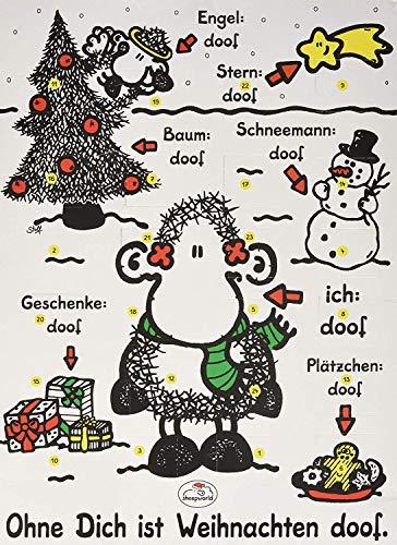 """Sheepworld Adventskalender \""""Ohne Dich ist Weihnachten doof\"""", mit Schokolade"""