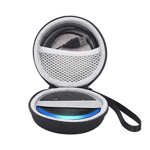 Tasche für Echo Dot (3. Gen.) Intelligenter Lautsprecher mit Alexa Hülle Taschen Tragbarer Hartschale mit weichem Fuzzy-Innenfutter Ganzkörper-Schutzhülle mit Anti-Lost & Shockproof