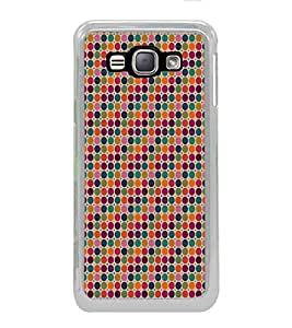 ifasho Animated Pattern littel and Big colourful Circle Back Case Cover for Samsung Galaxy J1 (2016 Edition)