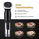 OMorc Sous Vide Präzisionskochtopf Immersion Zirkulator, BPA-Frei Tauchensieder mit präziser Temperatur und Zeiteinstellung für einfaches, gesundes und gleichmäßiges Kochen. - 3