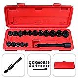 Todeco Herramientas de centrador embrague, Kit de Alineación de Embrague - Material: Acero C45 - Tamaño de la caja: 21,5 x 12 x 5,5 cm - 17 Partes, con estuche roja