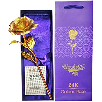 Chocholik 24K Gold Rose 10 Inches With Gift Box