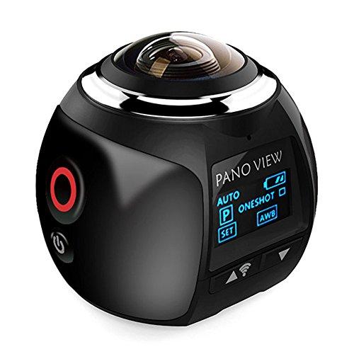Action cam a 360° V14K, mini telecamera e fotocamera con WiFi con panoramica grandangolare 220°, 30fps, VR 5MP, HDMI con DV Player