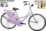 Hoop Fietse Altec Basic - Bicicletta olandesina da donna, 71,12 cm (28''), freno a mano incluso, colore: Lilla