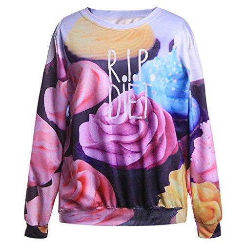 THENICE Femme Hip-Hop sport Sweat-shirts ice cream