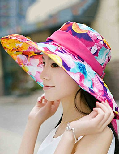 Tide Spring And Autumn Color Chapeau de soleil pliant Anti-ultraviolet Big Along The Sunscreen ( Couleur : 2 ) 2