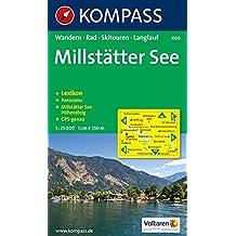 Millstätter See: Wander-, Langlauf- und Bikekarte, mit Skitouren. Mit Panorama. GPS-genau. 1:25.000