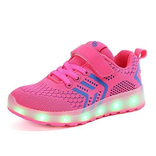 Ansel-UK-LED-Zapatos-Verano-Ligero-Transpirable-Bajo-7-Colores-USB-Carga-Luminosas-Flash-Deporte-de-Zapatillas-con-Luces-Los-Mejores-Regalos-para-Nias-Nios-Cumpleaos