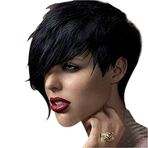 gemini-mall-women-lady-heat-short-black-straight-wig-cosplay-party-full-hair-wigs-with-wig-cap