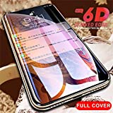 PmseK Protector de Pantalla,Vidrio Templado,6D Protective Glass On The For iPhone 6 6S 7 8 Plus XR X XS Glass Full Cover iPhone XS MAX Cristal Templado Tempered Glass For i6 Plus 5.5inch White