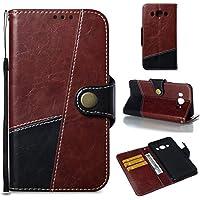 KAMILEO Handyhülle für Samsung J510 Hülle Schutzhülle Handytasche Case Cover mit Stand Kartenfächer Geldscheinfach doppelfarbige Design