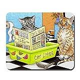 CafePress–Cat 464–Rutschfester Gummi-Mauspad, Gaming Maus Pad