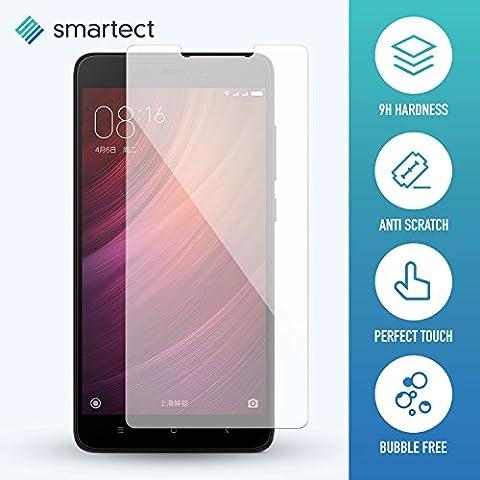 1x Protection d'Écran en Verre Trempé pour Xiaomi Redmi Note 4 de smartect®   Film Protecteur Ultra-Fin de 0,3mm   Vitre Robuste avec 9H de Dureté et Revêtement Anti-Traces de Doigts
