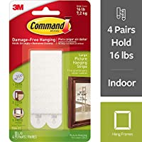 Command Large Picture Hanging Strip(White, Pack of 4)