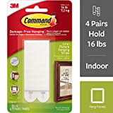 Command 17206 Large Picture Hanging Strips, 4 pairs,White