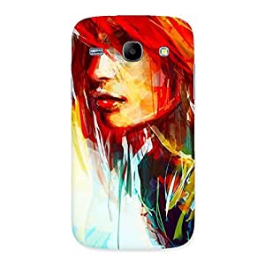Cute Art Girl Beauty Multicolor Back Case Cover for Galaxy Core