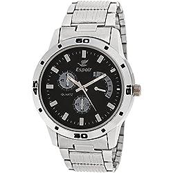 Espoir Chronograph Pattern Analogue Black Dial Men' Watch - ES109Black