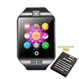 Bluetooth Smart Watch Phone Mobile Phone Unlocked Universal GSM Bluetooth 4.0 NFC Music Player Camera Calendar Stopwatch Sync for Android iPhone Google Huawei Smartphones Plus Backup Battery