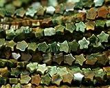 1file Green Rhyolite diaspro giallo pietra naturale piatto a forma di stella piccola sciolto parure perline 4mm 03170