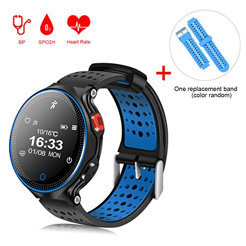 Reloj Inteligente QIMAOO Smart Watch Bluetooth 4.0 Fitness Tracker IP68 impermeable de...