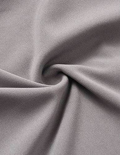 Casuale Camicia Del Breve Manicotto T-shirt Per Donne Tinta Unita Fuori Dalla Spalla Senza Schienale Maglietta Grigio