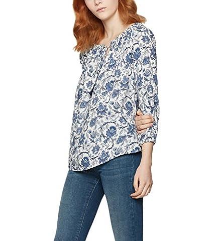 FIND Floral Off the Shoulder, Blouse Femme, Bleu (Blue Mix), 20 (Taille Fabricant: 3X-Large)