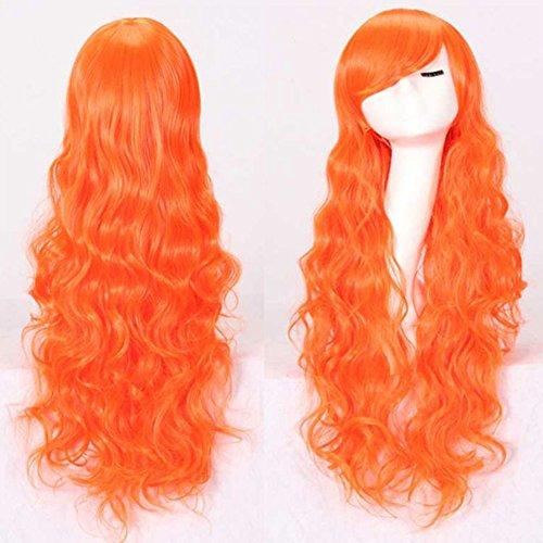Morbuy Damen Perücke Kunsthaar Lang Gelockt Welle Wigs Sexy lange gewellte geschichteten Cosplay Requisiten(Mehrere Farben) (hell (Legends Kostüm Jinx League Of)
