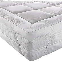 AR Textile - Colchón Extra Profundo de Plumas de Pato y plumón, Funda de colchón