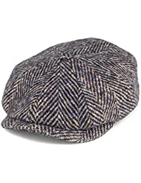 28aacb1fb76 Stetson Hats Hatteras Herringbone Virgin Wool Newsboy Cap - Blue-Brown