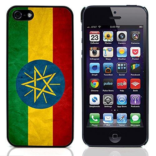 Graphic4You Vintage Uralt Flagge Von Südafrika South Africa Design Harte Hülle Case Tasche Schutzhülle für Apple iPhone 5 und 5S Äthiopien Äthiopier
