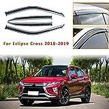 per Mitsu bishi Eclipse Cross 2018 2019 4PCS Deflettori d'Aria per Auto Deflettore Pioggia Vento Bloccare Sole Deflettori d'Aria Antiturbo