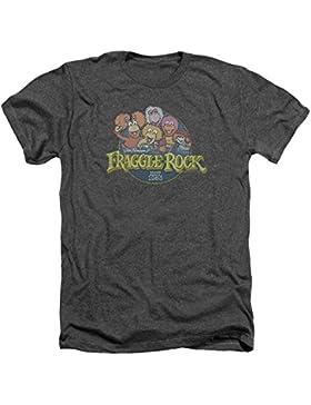 Fraggle Rock Circle Logo para hombre, camiseta rosa