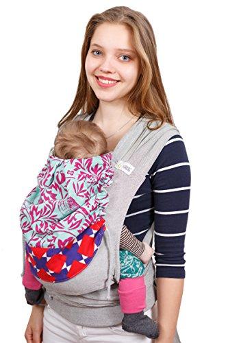 Madame Jordan Wrap Conversion Mei Tai 'Delilah' - Tragehilfe ab Geburt bis ca. 2 Jahre, Ergonomische Tragehilfe für Bauch, Rücken/Hüfte mit Gepolstertem Hüftgurt