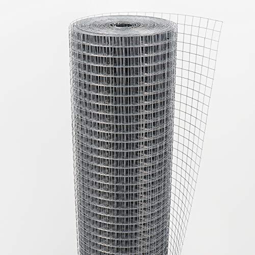20m x 1m rete per voliera, rete metallica, rete a maglie, rete saldata, recinzione metallica 19mm x 19mm