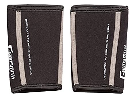 Gunsmith Fitness Premium Elbow Sleeves (1 Pair) - Weightlifting, Powerlifting & CrossFit - 7mm Neoprene Sleeve for Unparalleled Compression/Support (XXL)