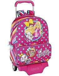Barbie - Mochila con ruedas, 42 cm (Safta 611410160)