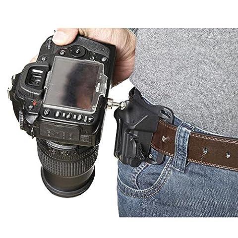 Forepin® Caméra Ceinture Boucle Tripod Waist Belt Buckle Button Mount Clip Adapter Strap Holster Hanger pour SLR / DSLR Caméra Nikon, Sony, Canon, Olympus, Pentax, Minolta,