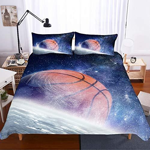 JSDJSUIT Bettwäsche-Set MUSOLEI 3D Digital Print Bedding Set Starry Sky surf Attacking Basketball Duvet Cover Set Bed Sheet Bed Twin Queen King,US King 3pcs