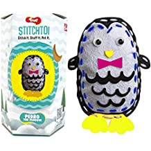 Toiing Stitchtoi Pedro The Penguin: DIY Felt Sewing Craft Kit for Kids Above Age 5 Years, Great Gift for Birthday