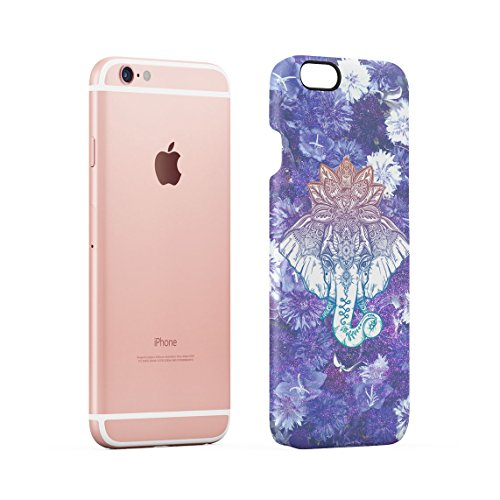 Emerald Howling Wolf Head Forests River Custodia Posteriore Sottile In Plastica Rigida Cover Per iPhone 6 & iPhone 6s Slim Fit Hard Case Cover Mandala Elephant