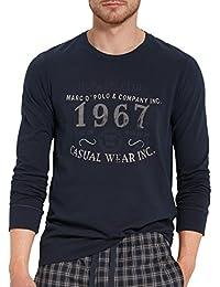 157665 Marc OPolo Herren Schlafanzugoberteil Shirt Kurzarm Crew-Neck Rundhals