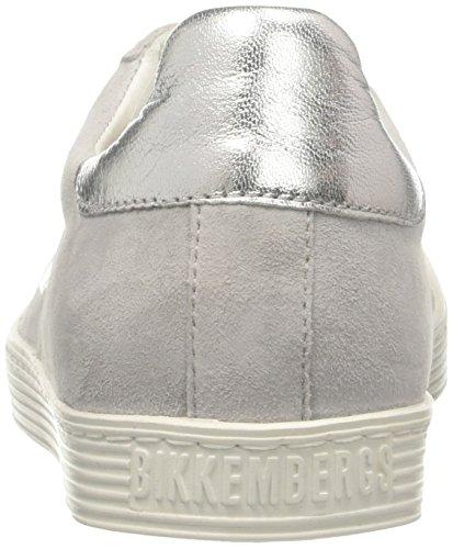 BIKKEMBERGS Damen Words 888 Niedrige Sneaker Grau