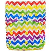Alva bebé AI2color Snap reutilizable lavable bolsillo bolsa para pañales pañal con 2inserciones